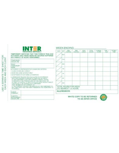 generic construction timesheet template
