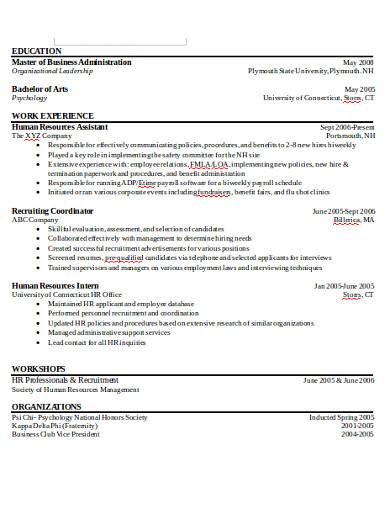 graduate college student application format