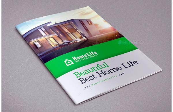 green real estate brochure template1