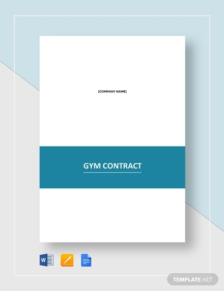gym contract template1
