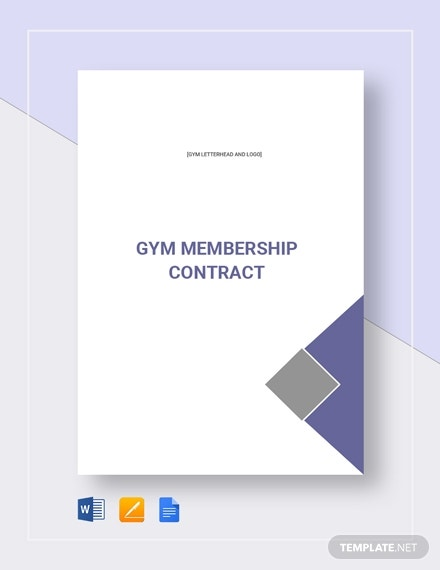 gym membership contract template