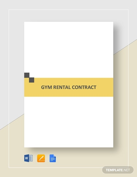 gym rental contract template1