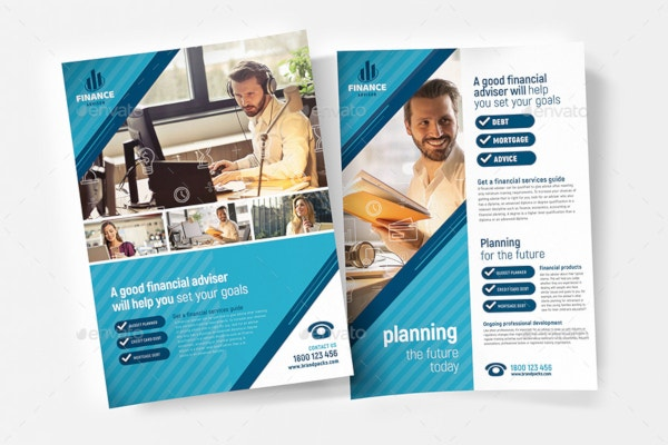 high quality financial poster template