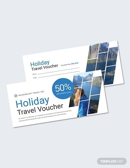 holiday travel voucher sample