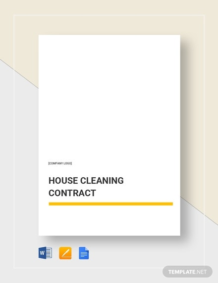 house cleaning service contract layout