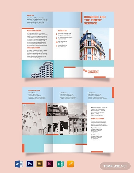 house realtor tri fold brochure