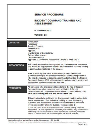 incident assessment procedure