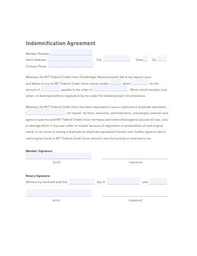 15 Indemnification Agreement Templates Google Docs Word