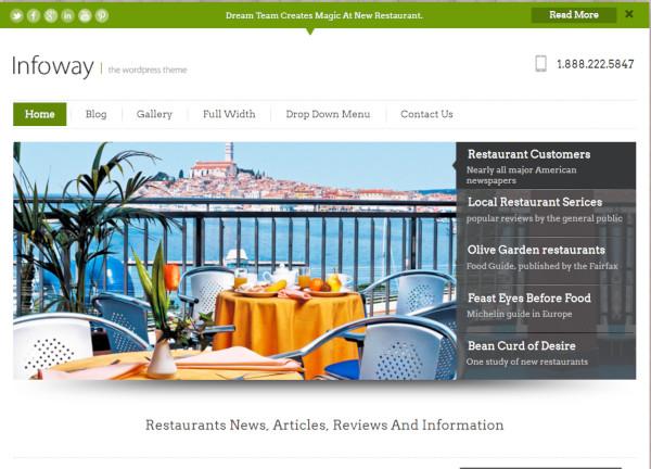 infoway seo friendly wordpress theme