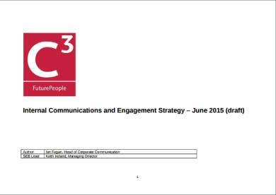 internal communications and engagement strategy