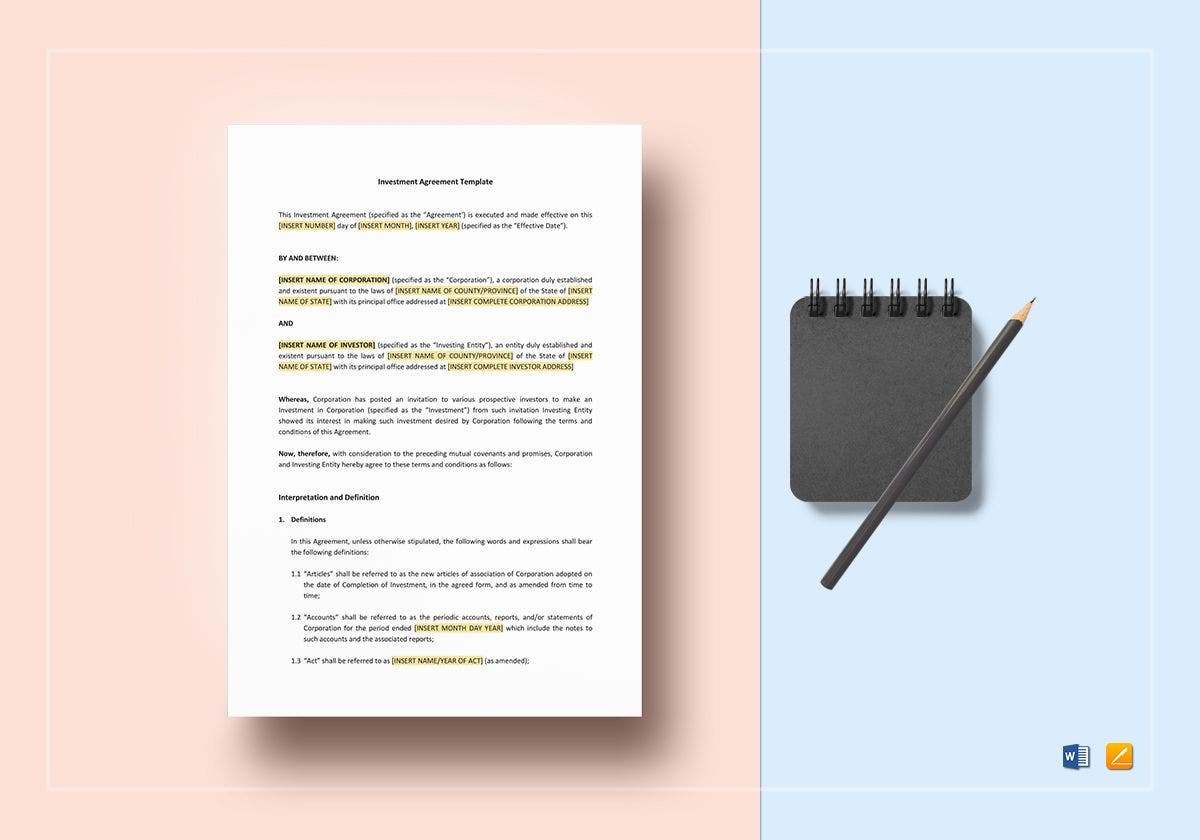 investment agreement template1