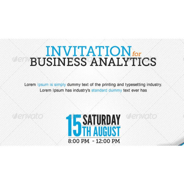 invitation for financial and business event sample