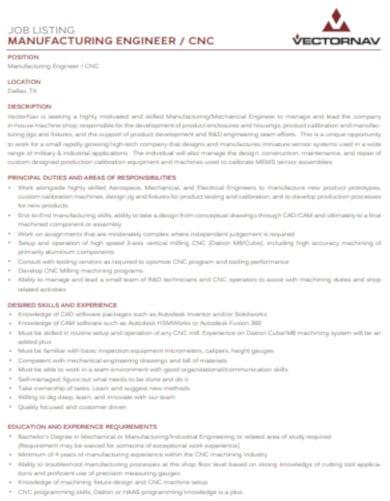 job list example