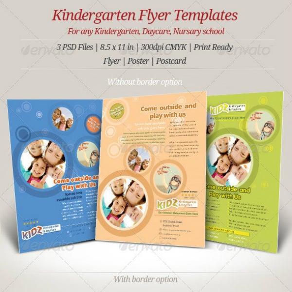 Kindergarten Daycare Nursery Flyer Templates