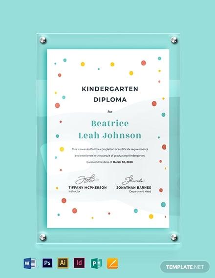 kindergarten diploma certificate template1