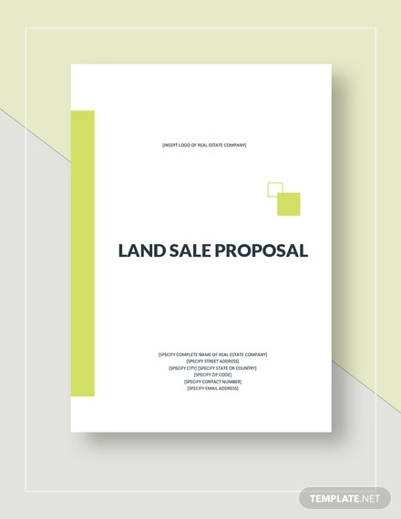 land product sale proposal example