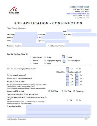 10 Job Application Letter Templates Pdf Free Premium