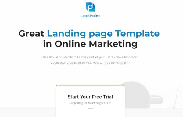 leadpoint bootstrap wordpress theme