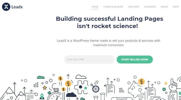leadx mobile responsive wordpress theme