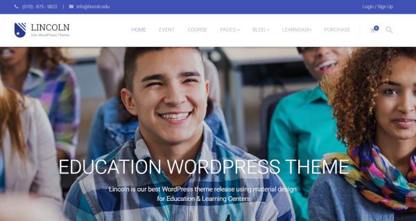 lincoln multilingual wordpress theme