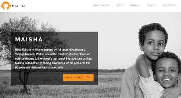 maisha custom wordpress theme