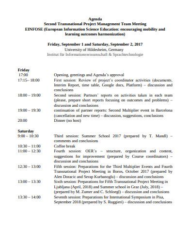 management team meeting agenda template