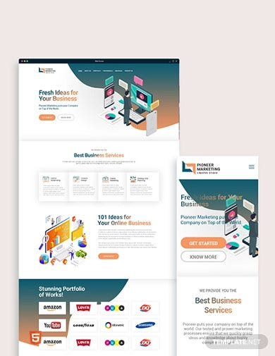 marketing agency bootstrap landing page template
