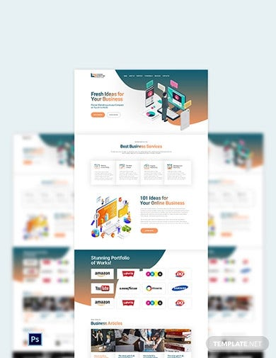 marketing agency psd landing page template