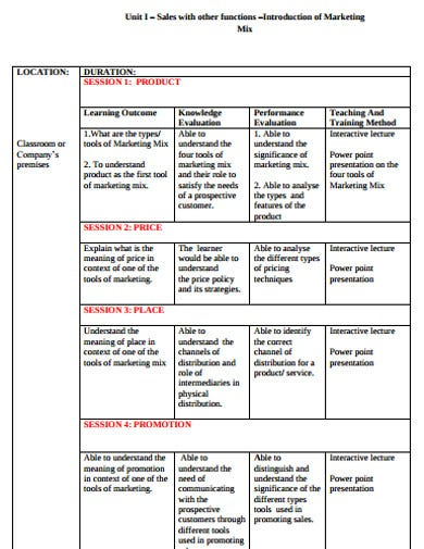 marketing and sales plan example