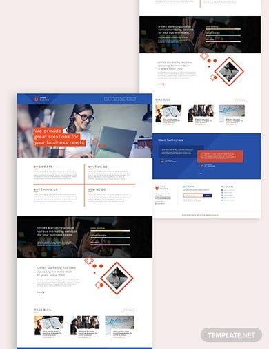 marketing firm bootstrap landing page template1