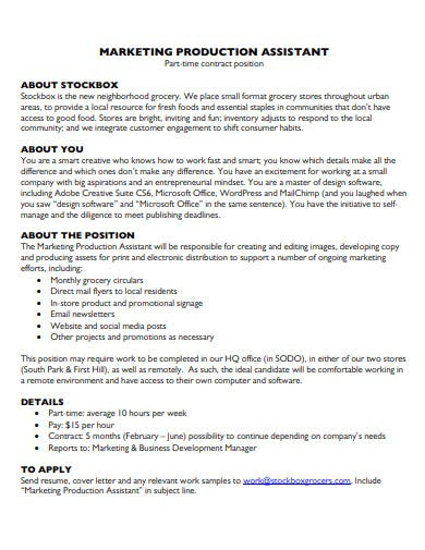 5+ Production Assistant Contract Templates - PDF | Free