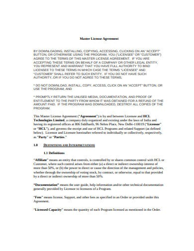 21 license agreement templates google docs word pages. Black Bedroom Furniture Sets. Home Design Ideas
