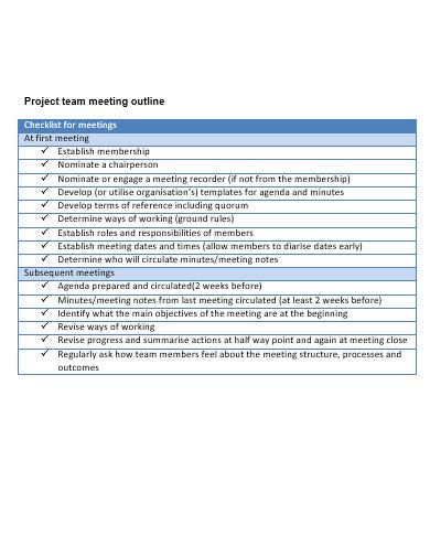 meeting outline template in doc