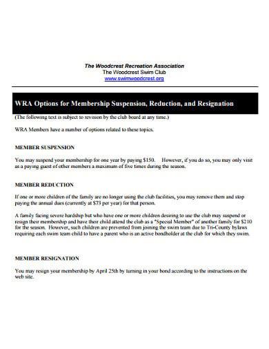 membership association resignation letter