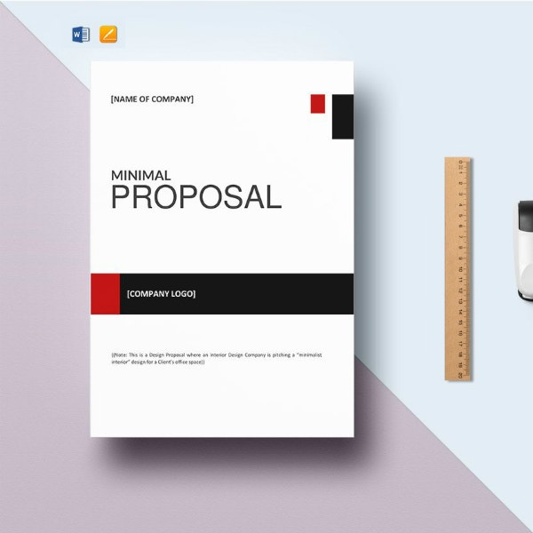 minimal cleaning service proposal template
