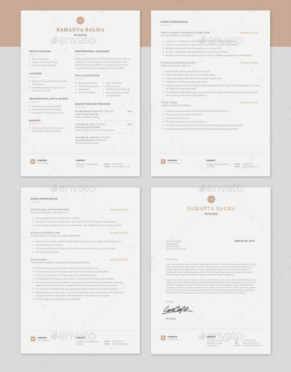 minimalist travel nurse resume template
