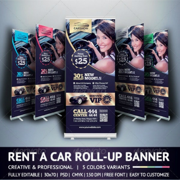 11+ Car Business Roll-Up Banner Templates - Illustrator