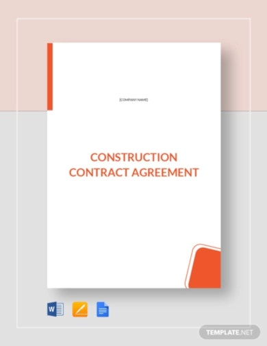 modern construction contract agreement template