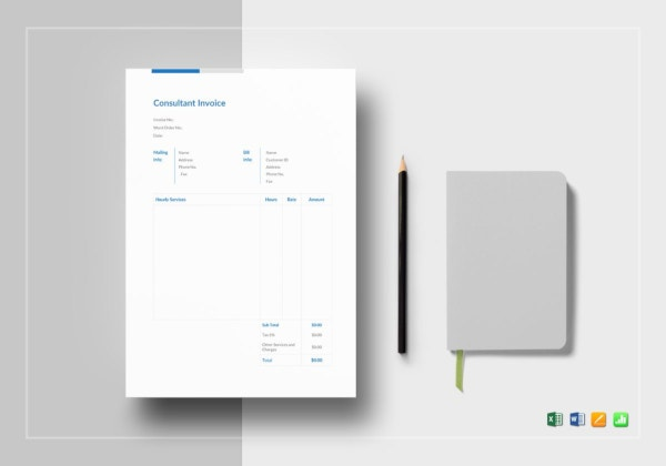 modern consultant invoice template