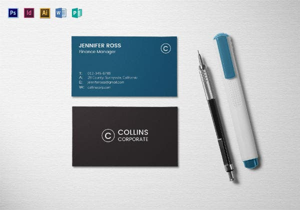 modern corporate business card mock up