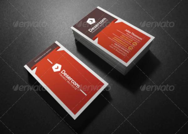 modern financial service business card template