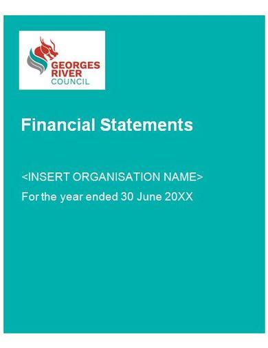 modern financial statement template