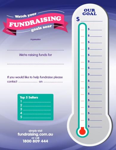 modern fundraiser chart template