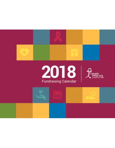 modern fundraising calendar
