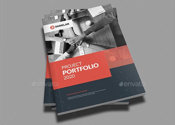 modern project portfolio template