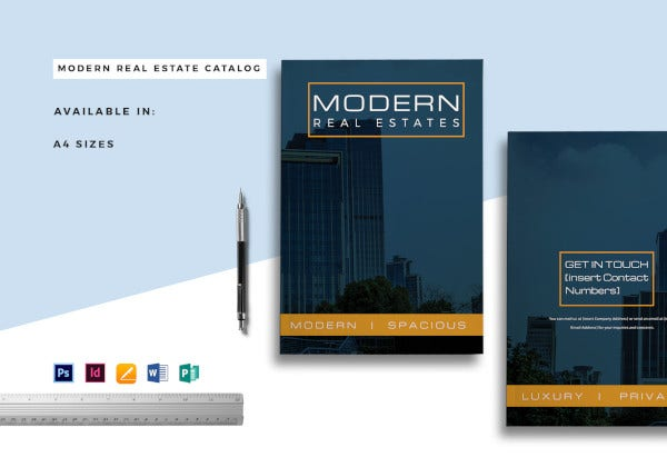 modern real estate catalog template