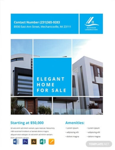modern real estate flyer template