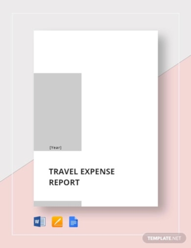 modern travel expense report template