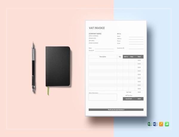 modern vat invoice template