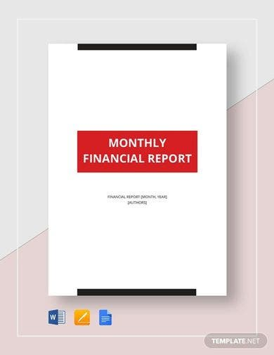 monthly financial report template1